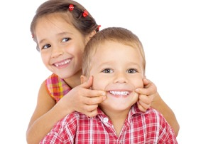 two children smiling