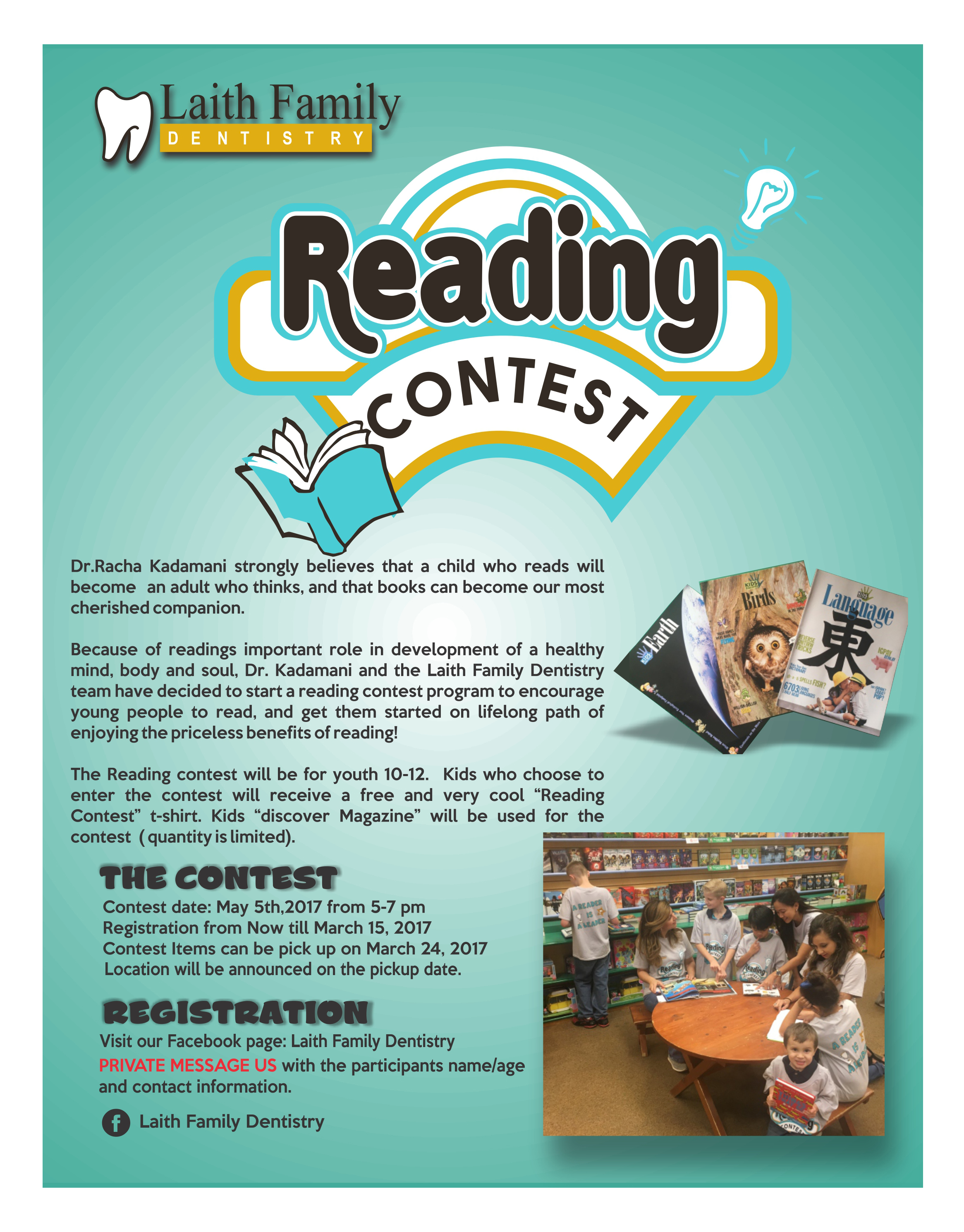 reading contest flyer
