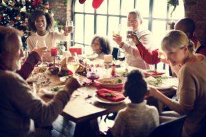 family having a holiday dinner